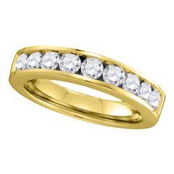 1 CTW Diamond Single Row Wedding Ring 14KT Yellow Gold - REF-119H9M
