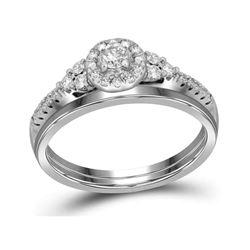 0.33 CTW Diamond Wedding Bridal Engagement Ring 10KT White Gold - REF-33N8F