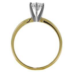 Genuine 0.75 ctw Diamond Anniversary Ring Jewelry 14KT White Gold - REF-203P6H