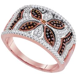 0.40 CTW Red Color Diamond Ring 10KT Rose Gold - REF-44W9K