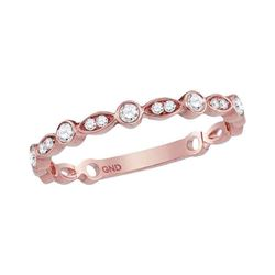 0.15 CTW Diamond Stackable Ring 14KT Rose Gold - REF-19M4H