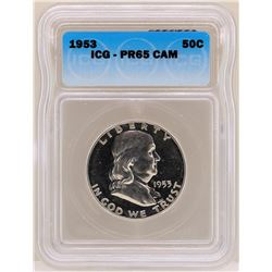 1953 Franklin Half Dollar Proof Coin ICG PR65CAM