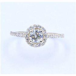 0.86 ctw Diamond Ring - 14KT Yellow Gold