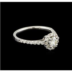 0.43 ctw Diamond and Diamond Ring - 14KT White Gold