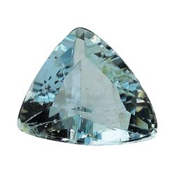 2.40 ct.Natural Trilliant Cut Aquamarine