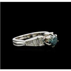 1.84 ctw Fancy Blue Diamond Ring - 18KT White Gold