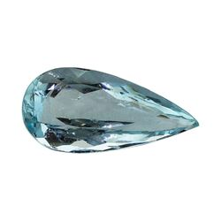 2.73 ct.Natural Pear Cut Aquamarine