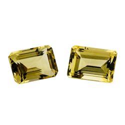 15.07 ctw.Natural Emerald Cut Citrine Quartz Parcel of Two