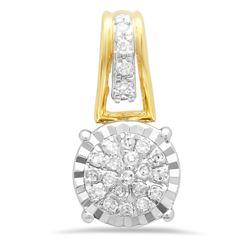 14k Gold 0.09CTW Diamond Pendant, (I1-I2/G-H)
