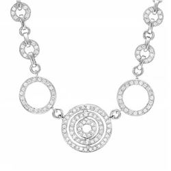 14k White Gold 1.50CTW Diamond Necklace, (SI2-I1/H-I)