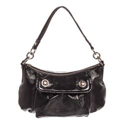 Coach Black Liquid Gloss Patent Leather Crossbody Bag