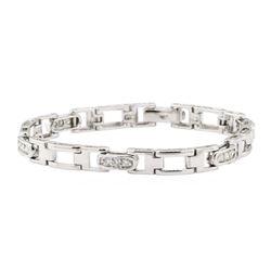 0.80 ctw Diamond Bracelet - 14KT White Gold