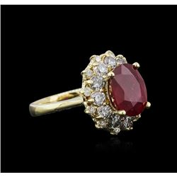 14KT Yellow Gold 3.55 ctw Ruby and Diamond Ring