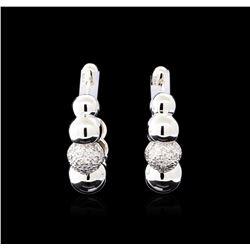 0.28 ctw Diamond Earrings - 14KT White Gold