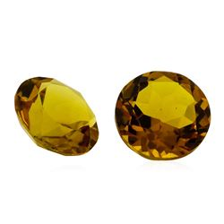 6.56 ctw.Natural Round Cut Citrine Quartz Parcel of Two