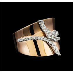 0.45 ctw Diamond Ring - 14KT Two Tone Gold