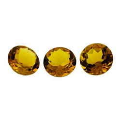 16.35 ctw.Natural Round Cut Citrine Quartz Parcel of Three