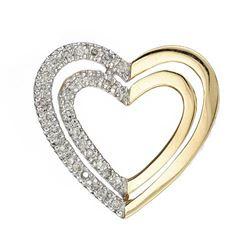 14k Yellow Gold 0.25CTW Diamond Pendant, (I1-I2/G-H)