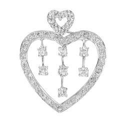 14k White Gold 0.40CTW Diamond Pendant, (SI3/G-H)