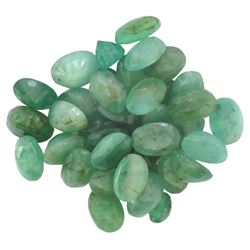 17.44 ctw Oval Mixed Emerald Parcel
