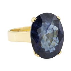 10.81 ctw Sapphire Ring - 14KT Yellow Gold