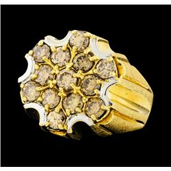 3.00 ctw Diamond Ring - 14KT Yellow and White Gold
