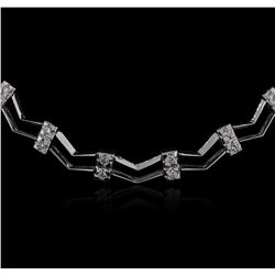 14KT White Gold 0.86 ctw Diamond Necklace