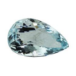 4.09 ct.Natural Pear Cut Aquamarine