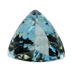 2.96 ct.Natural Trilliant Cut Aquamarine