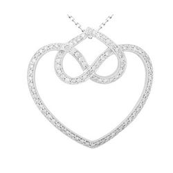 18k White Gold 0.81CTW Diamond Pendant, (SI3-I1/H-I)