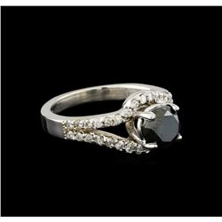 1.94 ctw Black Diamond Ring - 14KT White Gold