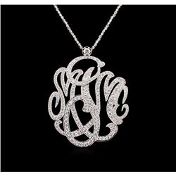 5.25 ctw Diamond Pendant With Chain - 14KT White Gold