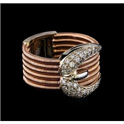 0.50 ctw Diamond Ring - 14KT Rose and White Gold