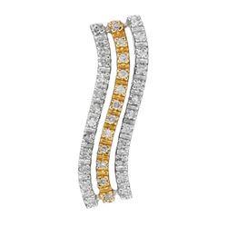 14k Two Tone Gold 0.25CTW Diamond Pendant, (I2/H-I)