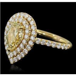 14KT Yellow Gold 2.52 ctw Diamond Engagement Ring