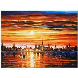 Sunset in Barcelona by Afremov, Leonid