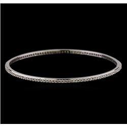 2.00 ctw Diamond Bangle Bracelet - 18KT White Gold