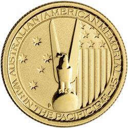 2013 $15 Australia War in the Pacific 1/10 oz Gold Coin