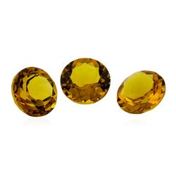 13.54 ctw.Natural Round Cut Citrine Quartz Parcel of Three