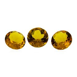 12.71 ctw.Natural Round Cut Citrine Quartz Parcel of Three