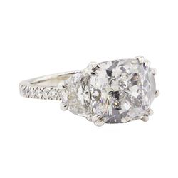 7.89 ctw GIA Certified Platinum Diamond Ring