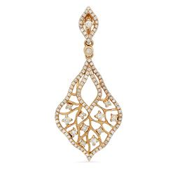 14k Rose Gold 0.64CTW Diamond Pendant, (I1/I)
