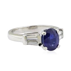 2.16 ctw Sapphire and Diamond Ring - Platinum