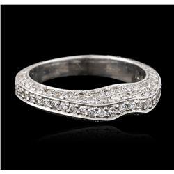 18KT White Gold 0.39 ctw Diamond Ring