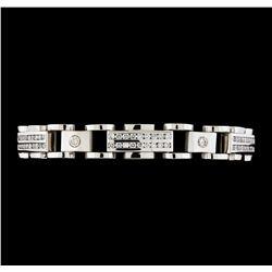 5.28 ctw Diamond Bracelet - 14KT White Gold