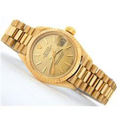Rolex 18KT Yellow Gold Datejust Ladies Wristwatch