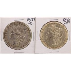 Lot of 1897-O & 1898-O $1 Morgan Silver Dollar Coins