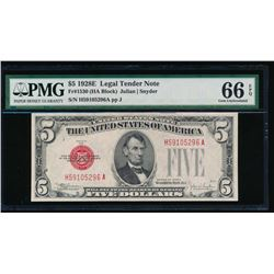1928E $5 Legal Tender Note PMG 66EPQ