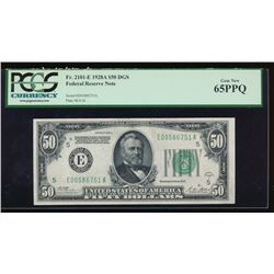1928A $50 Richmond Federal Reserve Note PCGS 65PPQ
