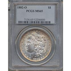 1882-O $1 Morgan Silver Dollar Coin PCGS MS65